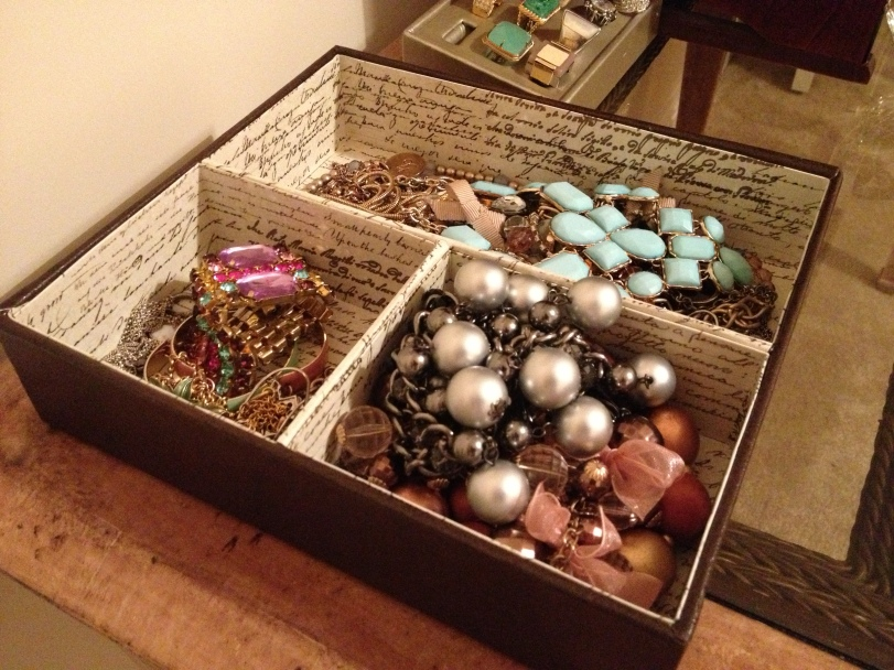 Storing your necklaces this way encourages tangling!